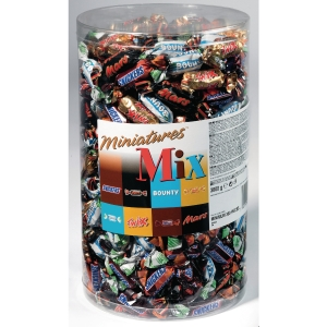 Mars Miniatures mix chocolaatjes, doos van 3 kg