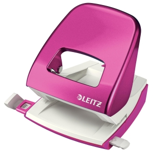 Leitz WOW 2hole punch - pink