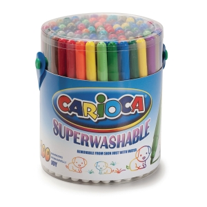 Carioca Joy Superwash fijne viltstiften assorti - klaspak van 100
