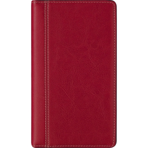 Brepols Interplan 736 pocketagenda met Palermo luxe omslag rood