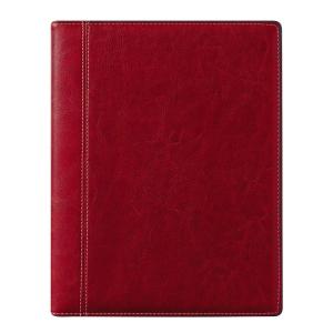 Brepols Timing 136 bureau-agenda met Palermo luxe omslag rood