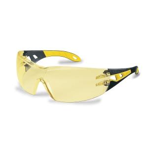 Uvex Pheos veiligheidsbril - amberkleurige lens