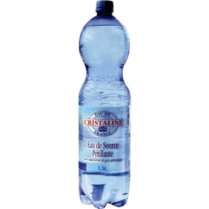 Cristaline sparkling water 1,5 liter - pack of 6