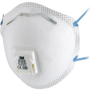 3M 8322 mondmasker met ventiel FFP 2 - doos van 10