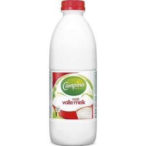 Campina volle melk plastic fles 1l - pak van 6