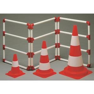 Reflecterende verkeerskegel klasse 2 hoogte 30 cm oranje/wit