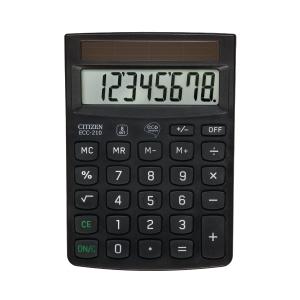Citizen ECC210 kantoorrekenmachine zwart - 8 cijfers