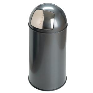 Vepa Bins Pushcan afvalbak uit metaal 40l grijs