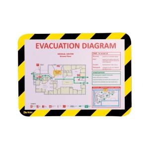 Magnetisch veiligheidskader A4 zwart/geel - pak van 2