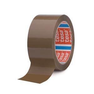 Tesa 4024 PP verpakkingstape 50 mm x 66 m bruin - pak van 6