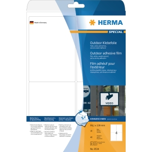 Herma 9534 weatherproof labels 99,1 x 139mm white - box of 40
