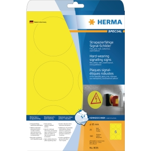 Herma 8035 weatherproof labels round 85mm - box of 150