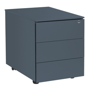 Pedestal 42x53,5x50,3 cm 3 drawers anthracite