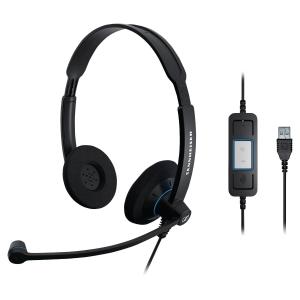 Sennheiser SC60 pc headset met snoer -binauraal