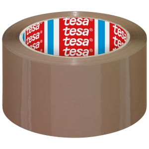 Tesa 4195 verpakkingstape PP 50mmx66m bruin - Pak van 6