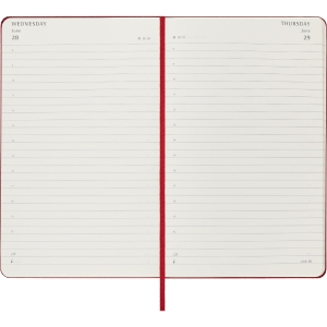 Moleskine large 1 dag per pagina rood