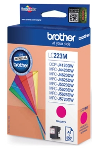 Brother LC-223M inktcartridge rood [550 pag]