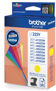 Brother LC-223Y ink cartridge yellow [550 pages]