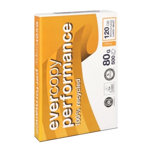 Evercopy Performance recycled paper A4 80g - 1 box = 5 reams of 500 sheets