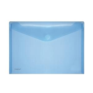 Foldersys transparante PP enveloppen A4 blauw - pak van 10
