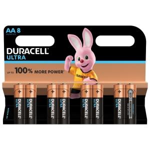 Duracell Ultra Power Type AA Alkaline Batteries, pack of 8