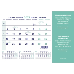 Brepols muismat met kalender