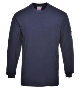 Portwest FR11 T-shirt met lange mouwen, marineblauw, maat XS, per stuk