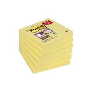 PK5+1 POST-IT 654-P6 NOTES 76X76MM GEEL
