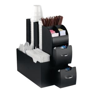 Cep Break opbergmodule, 2 laden en 9 compartimenten, kunststof, zwart