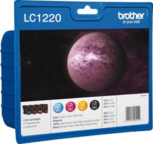Brother LC1220VALBP inkt cartridge, zwart/kleuren
