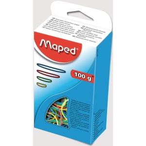 Maped elastieken assorti kleuren - doos van 100 gram