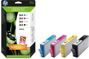 HP 364 (N9J73AE) inkt cartridge, zwart/kleuren, CB316-18-19-20EE