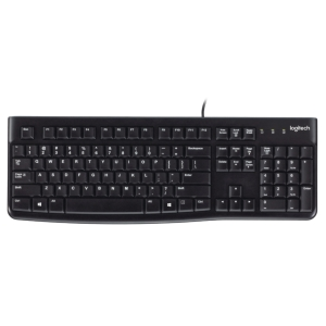 Logitech K120 wired keyboard black - AZERTY Belgium