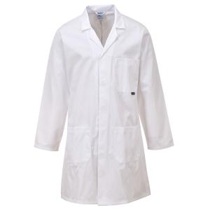 Portwest C852 labojas, polyester/katoen, wit, maat XL, per stuk