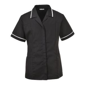 Portwest LW20 tuniek dames, polyester/katoen, zwart, maat S, per stuk