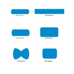 CMT hygiënische detectiepleisters 6 modellen blauw - doos van 120 stuks