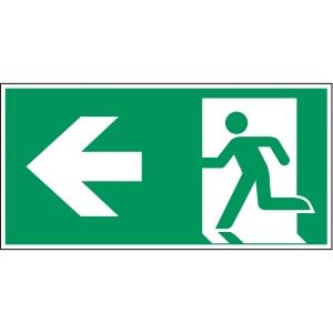 Brady zelfklevend pictogram A270/E001 nooduitgang linkse pijl 297x148mm