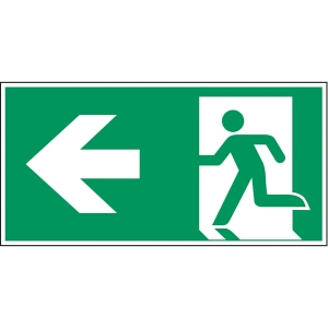 Brady pictogram PP A270/E001 Emergency exit left arrow 297x145mm