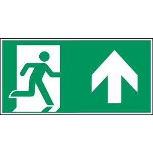 Brady PP pictogram A0/E002 nooduitgang rechts rechtdoor 210x105mm