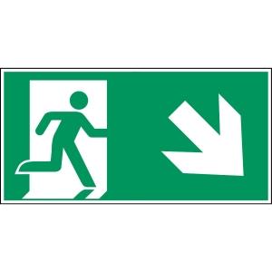 Brady pictogram PP A135/E002 Emergency exit lower-right corner 210x105mm