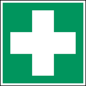 Brady self adhesive pictogram E003 First aid 100x100mm