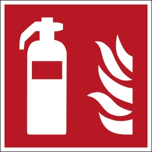 Brady self adhesive pictogram F001 Fire extinguisher 200x200mm