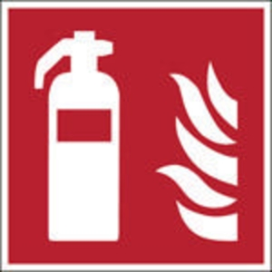 Brady F001 brandblusser pictogram, 250 x 250 mm, zelfklevende sticker, per stuk