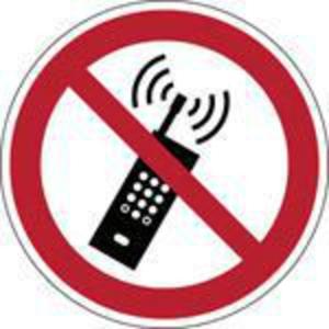 Brady PP pictogram P013 Draagbare telefoon verboden 315mm