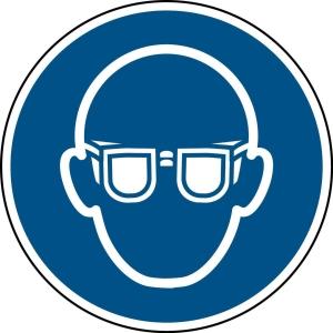 Brady zelfklevend pictogram M004 Oogbescherming verplicht 200mm