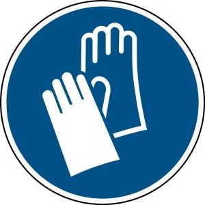 Brady self adhesive pictogram M009 Wear protective gloves 50mm - pk2