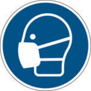 Brady PP pictogram M016 Ademhalingsbescherming verplicht 200mm