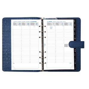 Exatime 17 organiser met Croco omslag blauw
