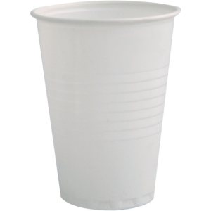 Disposable cups for warm/cold drinks 18cl white - box of 3000