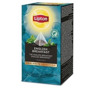 Lipton Exclusive Selection English Breakfast - Doos van 25 theezakjes